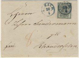 Hannover - 1 Ggr. A. Brief V. Aurich N. Rhauderfehn. 8 Pfg. Bestellgeldvermerk - Hanovre