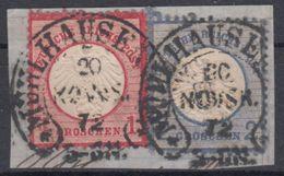 DR - 1+2 Gr. Kl./gr. Brustschild, Briefstück Hufeisen Mühlhausen 20 NOVBR 72 - Germany