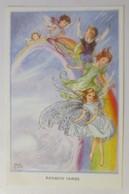 Elfen, Feen,  Rainbow Faires, Regenbogen Feen,1940, Rene Cloke ♥ (5946) - Anges