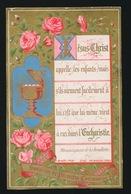 SOUVENIR DE MA PREMIERE COMMUNION ET DE MA CONFIRMATION GENT 1884 COLLEGE Ste BARBE - F.THYSEBAERT - Devotieprenten