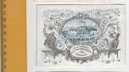 1 Porcelain Card Louvain - Before 1840 - 13 Cm X 9cm  - Factory  Train With Passengers - Kennis En Van Mechelen - Chimiq - Cartes De Visite