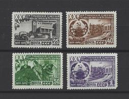 RUSSIE.  YT  N° 1440/1443  Neuf *  1950 - 1923-1991 URSS