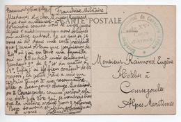 """1915 - CP FM De BEAUMONT SUR OISE (VAL D'OISE) Avec CACHET MILITAIRE """"ESCADRON TERRITORIAL DE CAVALERIE LEGERE DU XV°"""" - Guerre De 1914-18"""
