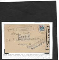 Guerre 39 / 45 Censure De La Libération Lettre SARRE DEC 46 Contrôle TREVES  Occup. FR - Marcophilie (Lettres)