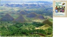 PILIPINAS  PHILIPPINES  FILIPPINE  BOHOL  Chocolate Hills  Nice Stamp - Filippine