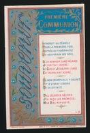 SOUVENIR D/M PREMIERE COMMUNION ET DE MA CONFIRMATION GENT 1884 COLLEGE Ste BARBE - V.VAN DAMME - Images Religieuses