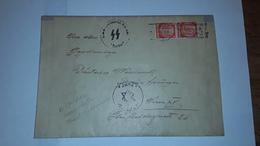 BRIEF WERELDOORLOG 2 AFSTEMPELING WIEN 1941 MET WAFFEN S S STEMPEL  EN JUDE STEMPEL - Documents Historiques