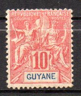 Col17  Colonie Guyane N° 44 Neuf X MH  Cote 5,70€ - Guyane Française (1886-1949)