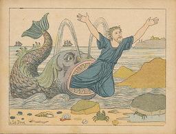 Chromo Format 12,5 Par 9,5 .Jonas Et La Baleine . Ninive . Whale - Jewish