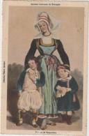 Anciens Costumes De Bretagne Femme De Rosporden (LOT A39) - Personnages