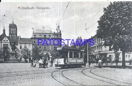 126329 GERMANY M. GLADBACH KÖNIGS PLACE TRAMWAY POSTAL POSTCARD - Germany