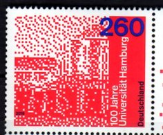 2019 Germany - 100 Years Of Hamburg University  MNH** MiNr. 3449 - Unused Stamps