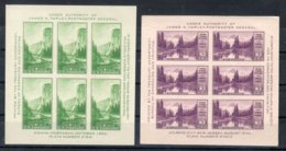 U.S.A. 1934  YOSEMITE / MONT RAINIER (YVERT 4/5) **MNH / VF - Blocchi & Foglietti