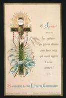 SOUVENIR D/M PREMIERE COMMUNION ET DE MA CONFIRMATION GENT 1887  INSTITUT ST.AMAND - LEON SUY - Devotieprenten