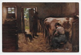 H.J. Dobson - Milking Time - Tuck Oilette 9343 - Autres Illustrateurs