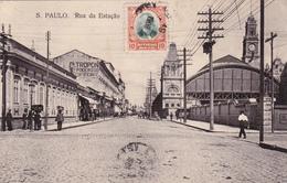CPA Brésil / Brasil - Sao Paulo - Rua Da Estação  - 1908 - São Paulo