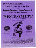 Buvard Nécromite, Préservation Absolue Contre Mites Et Papillons. - Produits Ménagers