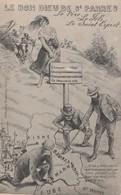 CPA Le Bon Dieu De St PARRES Caricature Satirique Anticléricalisme Anti Curé Champenois Illustrateur (2 Scans) - Christianity