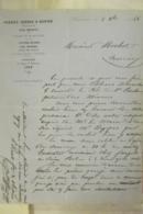Facture Perret Freres & Olivier Proprietaires Des Mines De Chessy Et De Sain-bel Cuivres 1968 - 1800 – 1899