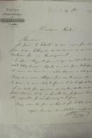 Facture Fabrique De Briques Refractaires P Serve Jeune à Givors 1857 - Francia