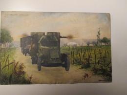 1916 Automobile Blindata Viaggiata Fotocromia - Matériel