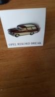Pin's OPEL REKORD BREACK - Opel