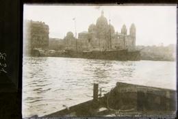 Photo Ancienne  Sur Plaque De Verre -   Bateau Au Port , à Identifier ? Vue  1901 - N° SE31 - Glasplaten