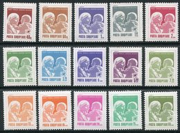 ALBANIA 1992-95 Definitive: Mother Teresa 15 Values Complete  MNH / **.   Michel 2512-21, 2535-37, 2542, 2555 - Albanie