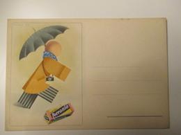Pubblicità FERRANIA Roll Film Illustratore Studio MINOZZI Bologna Non Viaggiata - Publicité