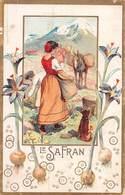 PIE-Z RO-19-3803 : CHOCOLAT POULAIN.  LES PLANTES UTILES. LE SAFRAN. - Poulain