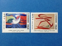2003 ITALIA FUTURISMO FRANCOBOLLI NUOVI STAMPS NEW MNH** - 1946-.. République