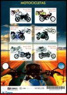 Ref. BR-2858 BRAZIL 2002 - MOTORBIKES, TRANSPORT,, MI# 3270-75, S/S MNH, MOTORCYCLES 6V Sc# 2858 - Hojas Bloque