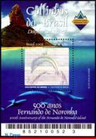 Ref. BR-2889 BRAZIL 2003 ANIMALS, FAUNA, 500 YEARS FERN.DE NORONHA, ,DOLPHINS, HOLOGRAMS, MI# B124, MNH 1V Sc# 2889 - Ongebruikt