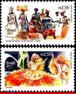 Ref. BR-3199-200 BRAZIL 2011 JOINT ISSUE, BELGIUM,FOLKLORE,, EUROPALIA,CARNIVAL,CARYBE DANCE,MNH 2V Sc# 3199-3200 - Brasilien