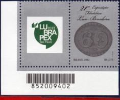 Ref. BR-3222-1 BRAZIL 2012 PHILATELY, EXHIBITION LUSO-BRASILIAN, , STAMP ON STAMP, WITH LABEL MNH 1V Sc# 3222 - Brasile