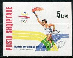 ALBANIA 1992 Olympic Games Block Used.   Michel Block 96 - Albanie