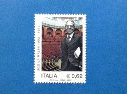 2003 ITALIA UGO LA MALFA STATISTA POLITICO FRANCOBOLLO NUOVO STAMP NEW MNH** - 1946-.. République