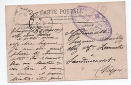 1915 - CP FM De BLANQUEFORT (GIRONDE) Avec CACHET 18° CORPS COMITE DU MEDOC N°12 / SOCIETE FRANCAISE SECOURS AUX BLESSES - Poststempel (Briefe)