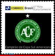 Ref. BR-V2017-01 BRAZIL 2017 FOOTBALL SOCCER, CHAPECOENSE,SOUTH AMERICA, CUP CHAMPION, PERSONALIZED MNH 1V - Beroemde Teams