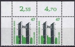 BRD,  1997, Sehenswürdigkeiten (XX) Mi. Nr. 1932**,  Oberrand-Paar - Nuovi