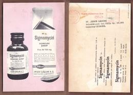 AC -  SIGMAMYCIN PFIZERMEDICAL CARD 01 NOVEMBER 1967 - Reclame