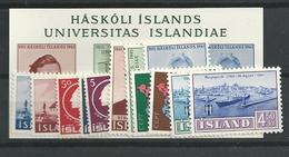 1961 MNH Iceland, Island, Year Complete,posffris - Volledig Jaar