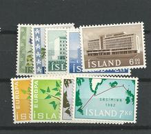 1962 MNH Iceland, Island, Year Complete,posffris - Volledig Jaar