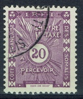 French Somali Coast, 20c., Postage Due, 1938, VFU - Costa Francesa De Somalia (1894-1967)
