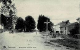 Florenville Routes De La Station Et D'Izel Circulée En 1912 - Florenville