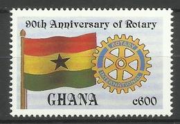 GHANA 1995 90th ANNIVERSARY OF ROTARY MNH - Ghana (1957-...)