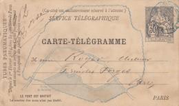 ENTIER. CARTE PNEUMATIQUE. Type CHAPLAIN 30c. NOIR. PLAN PARIS SUD BLEU. IMPRIMERIE DE L'ABEILLE NEUILLY - Postal Stamped Stationery