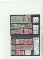TIMBRES DE NOUVELLE-ZELANDE  NEUF**/*/° 1882-1900-09 Nr VOIR SUR PAPIER AVEC TIMBRES 3 PLAQUETTES COTE  88.60  € - Ungebraucht