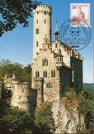 Allemagne - Bade Würtemberg - Château Lichtenstein - Sur Carte Maximum - 6622 - Reutlingen