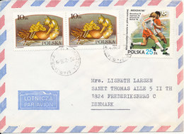 Poland Air Mail Cover Sent To Denmark Topic Stamps - Covers & Documents